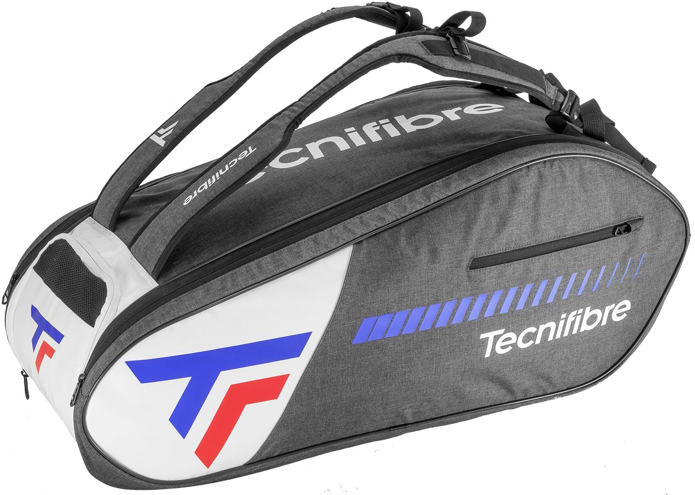 Le sac de squash TEAM ICON 9R tecnifibre peut être porter en sac à dos. Une superbe finition. la bonne idée de mettre les sangles sacs à dos du coté des ouvertures (elles ne trainent pas et ne se salissent pas sur le sol).  Poche aéré. Sortie 21 février 2020.