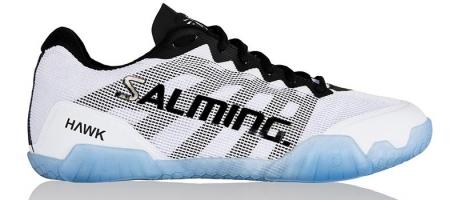 Chaussures de squash SALMING Hawk-blanche-bleue