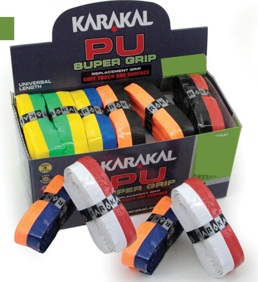 La qualité des grips Karakal avec bicouleur.