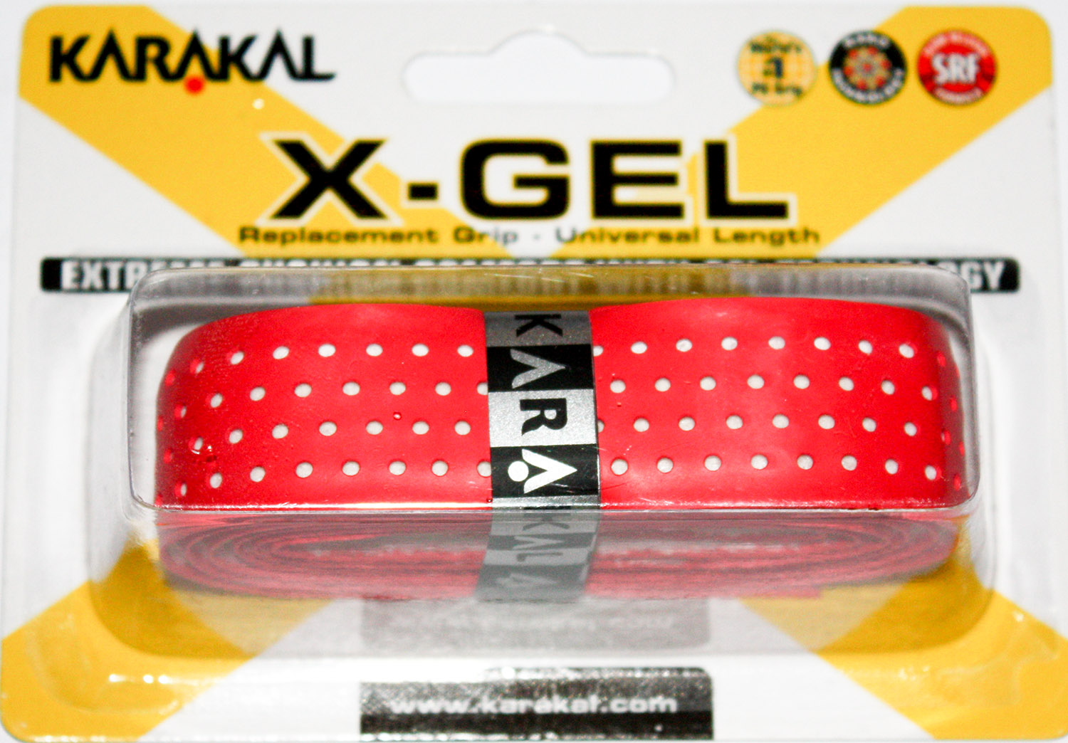 Grip de squash KARAKAL Pu-super-grip-X-GEL-Rouge