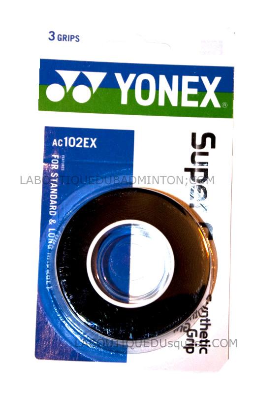 Un très bon surgrip noir, ce surgrip AC102-EX YONEX gâce à ses performances est demandé au squash.