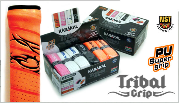 Le dernier grip KARAKAL, le tribal, orange, blanc, noir, rose,