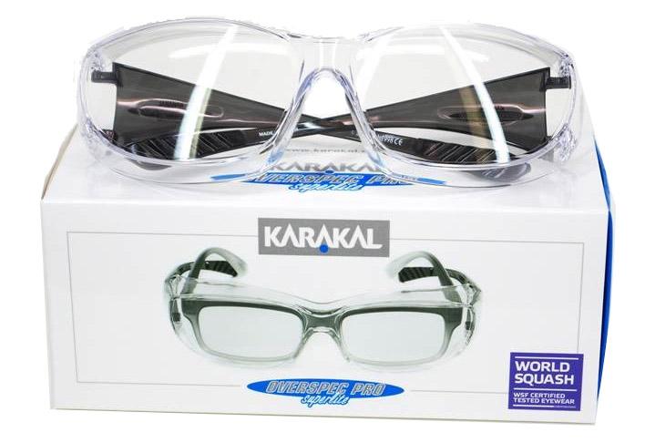 Des Lunettes OverSpec pro de karakal de Protection Overspecs En effet peu de marques sont susceptibles de vous proposer des lunettes permettant de jouer avec ses propres lunettes !! Enfin des lunettes pas trop grandes et adaptées plutôt au rectangulaire.