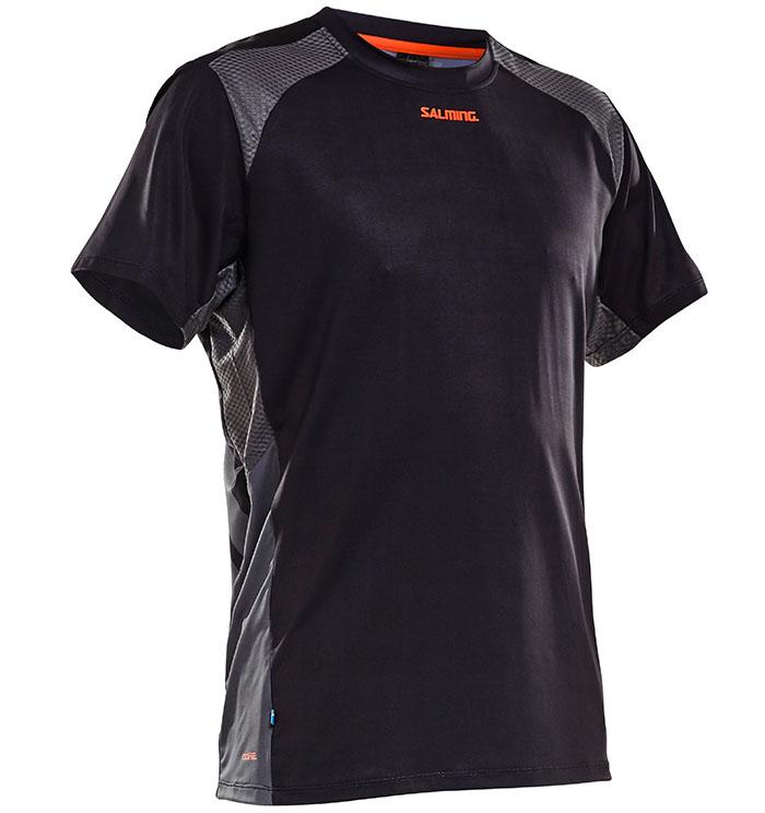 T-shirt noir technique, design apprécié et agréable à porter.