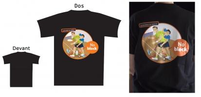 Textile de squash LaBoutiqueduSquash T-shirt-No-Block-coton