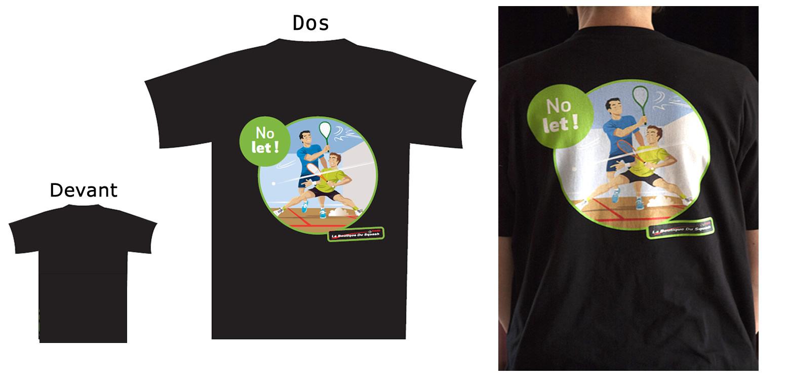 L'option a été prise d'avoir un t-shirt de qualité en 190gr  qui se tienne bien dans le temps avec un marquage en impression directement sur la fibre et non en transfert. Il fait partie d'une série que nous avons souhaité lancer. Cette série est en coton avec un marquage juste dans le dos, plus abordable et une série t-shirt technique en Airtex avec marquage global en sublimation arrivera bientôt.