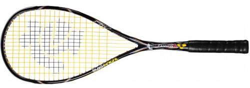 La raquette de squash Black Knight ION CANNON POWER SURGE de Mathieu Castganet est une raquette puissante et réactive. pas de déformation de cadre. Housse complète et cordée.