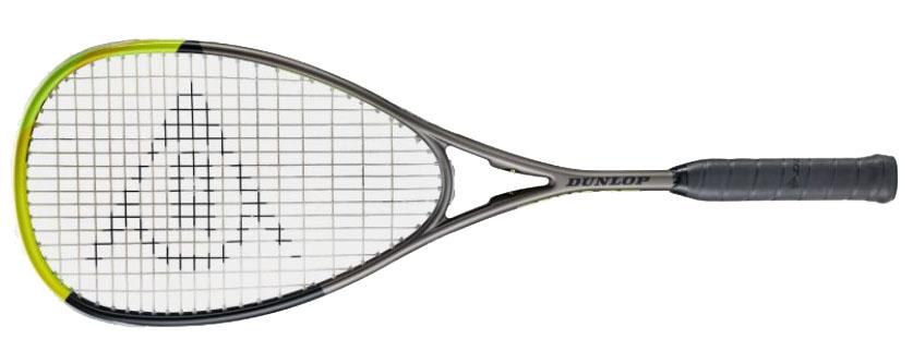 La raquette de squash Dunlop Blackstorrm Graphite-5-0  est une raquette puissante,  tolérante aux erreurs de centrage, très bien pour ce niveau de prix.  Housse et cordée.