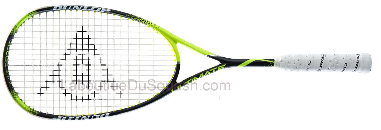 La raquette de squash <strong>Dunlop Precision Ultimate</strong> porte bien son nom. Dunlop a poussé ses technologies à leur maximum : La puissance de cette raquette de squash est énorme et le touché paraît surréaliste, tant la durée de l'impact semble longue. Sa particularité est le plan de cordage à 16 cordes en longitudinale, ce qui lui confère une extrème précision malgré son grand tamis. (très bien aussi pour ceux qui casse beaucoup de cordage. Son grand tamis de 500 cm2, et son équilibre en tête donne une frappe très stable même en cas de centrage imprécis. Il se dégage une incroyable impression d'accentuation sy stématique de l'intention du joueur. A chaque frappe la Dunlop Precision Ultimate semble manger la balle. (sensation agréable). la dernière mouture a un cadre un peu différent, plus travaillé et les joncs sont ajustés et creusés pour les emplacements du cordage. Une raquette profilée d'une très belle finition. poids mesuré 154gr.