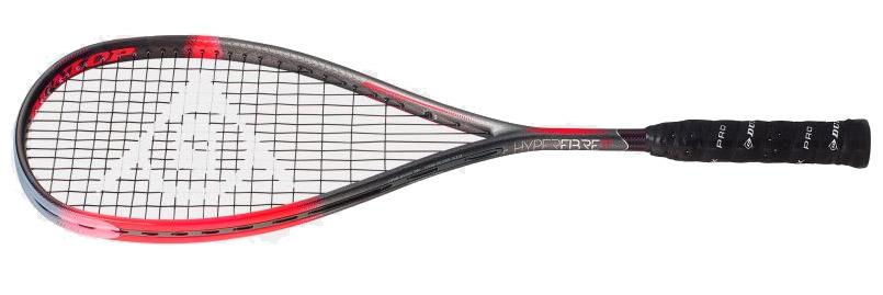 La raquette de squash Dunlop  Hyperfibre XT Revelation Pro est la plus puissante des Revelation. Raquette d'Ali Farag c'est aussi notre préférée, tout de suite bien en main et son équilibre nous donne envie de claquer la balle le tout dans un bon confort. On sent une souplesse de cadre mais qui ne nuit pas à la frappe. une très bonne raquette.