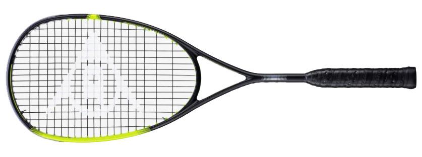 La raquette de squash Dunlop  SONIC CORE  Ultimate porte bien son nom. Dunlop a poussé et a continué ses technologies à leur maximum : La puissance de cette raquette de squash est énorme et le touché paraît surréaliste, tant la durée de l'impact semble longue. Sa particularité est le plan de cordage à 16 cordes en longitudinale, ce qui lui confère une extrème précision malgré son grand tamis. (très bien aussi pour ceux qui casse beaucoup de cordage. Son grand tamis de 500 cm2, et son équilibre en tête donne une frappe très stable même en cas de centrage imprécis. Il se dégage une incroyable impression d'accentuation sy stématique de l'intention du joueur. A chaque frappe la Dunlop  SONIC CORE  Ultimate semble manger la balle. (sensation agréable). la dernière mouture  SONIC CORE  a un cadre un peu différent, plus travaillé et les joncs sont ajustés et creusés pour les emplacements du cordage. Une raquette profilée d'une très belle finition. poids mesuré 154gr