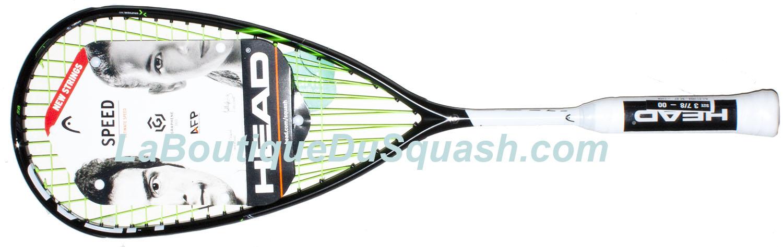 Magnifique raquette de squash Head Graphene 360 Speed 135 SB. SB pour SlimBody, un cadre un peu plus fin. La frappe est agréable et la maîtrise de cette souplesse donne une impression de gain de puissance.  Elle possède maniabilité, un bon équilibre avec juste ce qu'il faut en tête, une réactivité. Tous ces éléments donnent envie de prendre du plaisir à la frappe. Elle est fabriquée et conçue avec une très belle finition, avec pour preuve les cordes complètement intégrées dans le joncs, bravo. 152gr sur la balance.