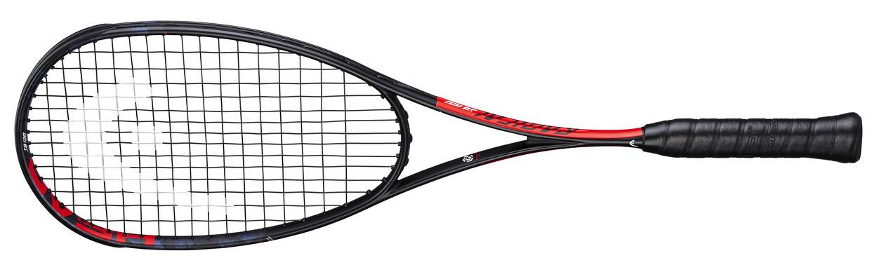 Raquette de squash Head Graphene 360+ Radical 120 SB tamis plus modéré bien que 475cm2, favorise sa précision. La possibilité de pouvoir évoluer son plan de cordage. Changer de cordage permettait de faire évoluer sa raquette mais de changer de plan !