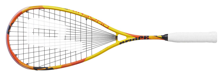 Cette raquette de squash <strong>Prince Phoenix Elite</strong> est très proche de la version Pro. Elle remplace la Team Beast et en reprend les caractéristiques. Pour ceux qui veulent garder de la maniabilité par rapport à la Venon mais un peu plus de puissance que la Vortex ou l'Hyper. Le contact avec la balle est très bon. housse et cordée.Raquette légère 144 gr sur notre balance.