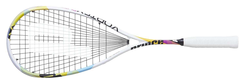 La raquette de squash <strong>Prince Vortex Elite</strong> est la suite de la Team Warrior, très légèrement plus souple que la version Pro on reste dans les même caractéristique. Un très bon équilibre entre poids et répartition des masses. La raquette du maître du jeu d'attaque ici dans la version Elite. poids équipée cordée 144gr. légère avec un léger équilibre en tête.