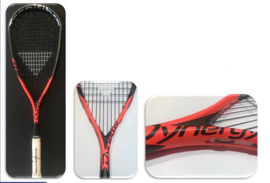 <strong>raquette de squash Dynergy 117 InfraRed</strong> le retour en rouge et noire. Un cadre plus fin que les dernières dynergy, toujours maniable avec une très bonne dynamique de frappe.