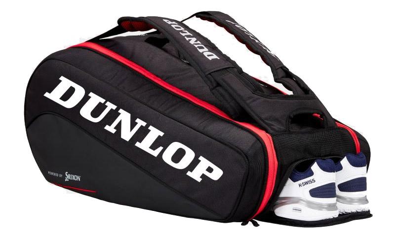 Le sac dunlop CX SERIES 9 Raquettes noir et rouge est d'une bonne contenance pour le squash du soir et de petits tournois. Sangle de sac à dos confortable, poignées tout y est.